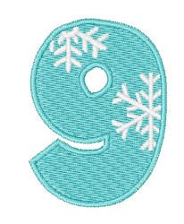 Snowflake Font 9 embroidery design