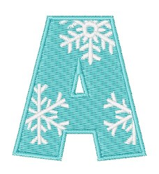 Snowflake Font A embroidery design