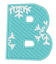 Snowflake Font B embroidery design
