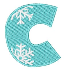 Snowflake Font C embroidery design