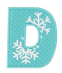 Snowflake Font D embroidery design