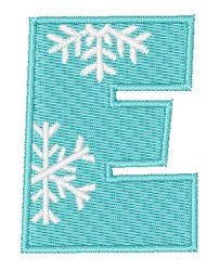 Snowflake Font E embroidery design