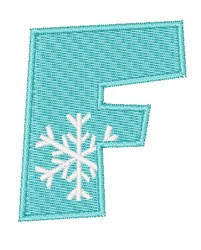 Snowflake Font F embroidery design