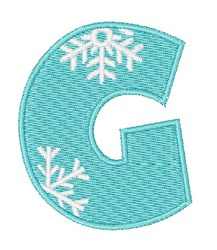 Snowflake Font G embroidery design