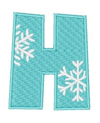 Snowflake Font H embroidery design