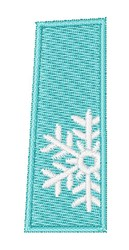 Snowflake Font I embroidery design