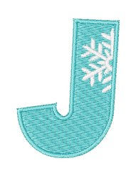 Snowflake Font J embroidery design