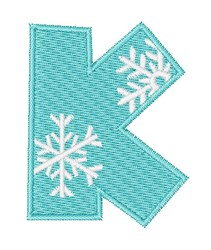 Snowflake Font K embroidery design