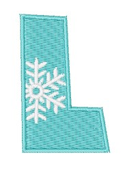 Snowflake Font L embroidery design