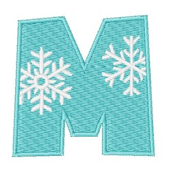 Snowflake Font M embroidery design