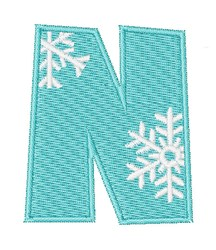 Snowflake Font N embroidery design