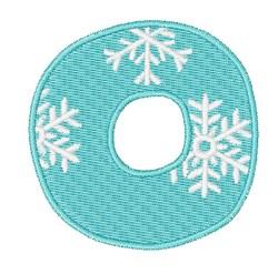 Snowflake Font O embroidery design