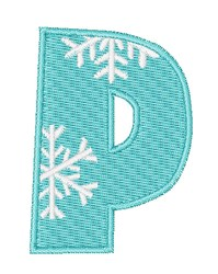 Snowflake Font P embroidery design