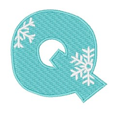Snowflake Font Q embroidery design