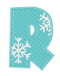Snowflake Font R embroidery design