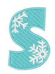 Snowflake Font S embroidery design