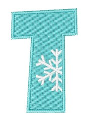 Snowflake Font T embroidery design