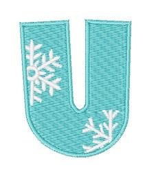 Snowflake Font U embroidery design
