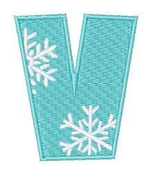 Snowflake Font V embroidery design