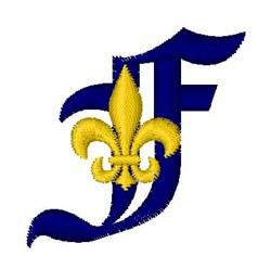 Fleur De Lis Font F embroidery design