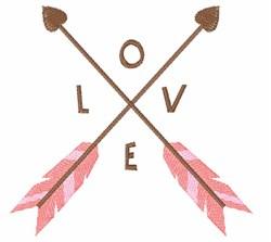 Love Arrows embroidery design