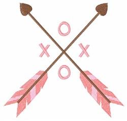 XOXO Arrows embroidery design