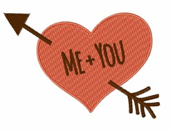 Me + You embroidery design