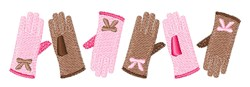 Winter Gloves embroidery design