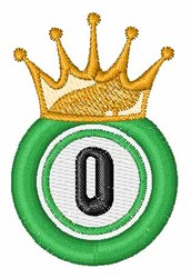 Bingo King 0 embroidery design