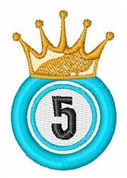 Bingo King 5 embroidery design