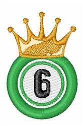 Bingo King 6 embroidery design