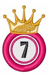 Bingo King 7 embroidery design