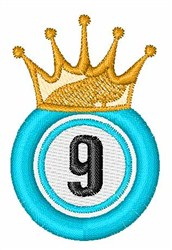 Bingo King 9 embroidery design