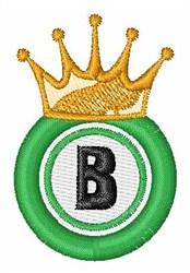 Bingo King B embroidery design