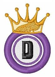 Bingo King D embroidery design