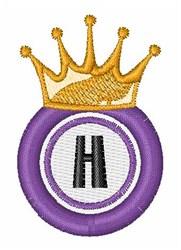 Bingo King H embroidery design