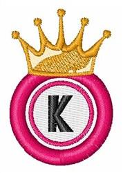Bingo King K embroidery design