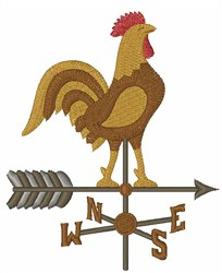 Rooster Direction embroidery design