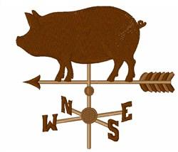 Pig Weather Vane embroidery design