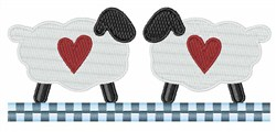 Hearts Sheep embroidery design