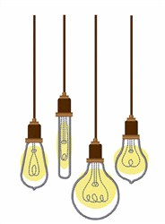 Light Bulbs embroidery design