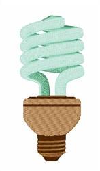 Fluorescent Bulb embroidery design