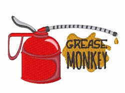 Grease Monkey embroidery design