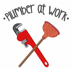 Plumber At Work embroidery design