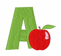 Food Font A embroidery design