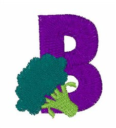 Food Font B embroidery design