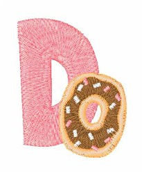 Food Font D embroidery design