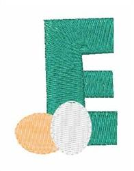 Food Font E embroidery design