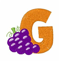 Food Font G embroidery design