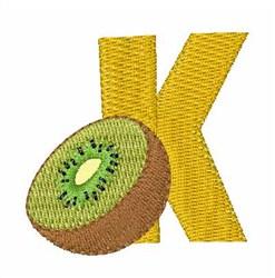 Food Font K embroidery design
